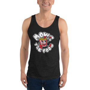Movie The Food - Round Logo Tank Top - Charcoal-black Triblend - Model Front