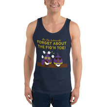 Load image into Gallery viewer, Movie The Food - The Fig Lebowski Tank Top - Navy - Model Front