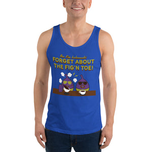 Movie The Food - The Fig Lebowski Tank Top - True Royal - Model Front