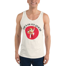 Load image into Gallery viewer, Movie The Food - The Karate Quiche Tank Top - Oatmeal Triblend - Model Front