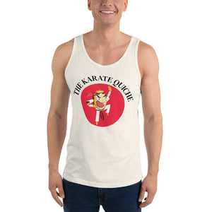 Movie The Food - The Karate Quiche Tank Top - Oatmeal Triblend - Model Front