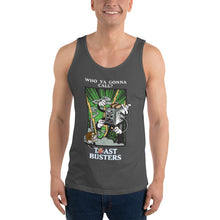 Load image into Gallery viewer, Movie The Food - Toastbusters Tank Top - Asphalt - Model Front