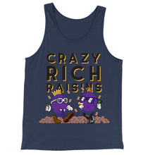 Load image into Gallery viewer, Movie The Food - Crazy Rich Raisins Tank Top - Navy