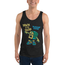 Load image into Gallery viewer, Movie The Food - Dawn Of The Bread Tank Top - Charcoal-black Triblend - Model Front