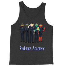 Load image into Gallery viewer, Movie The Food - Pho-lice Academy Tank Top - Charcoal-black Triblend