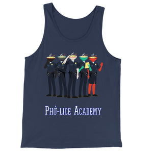 Movie The Food - Pho-lice Academy Tank Top - Navy