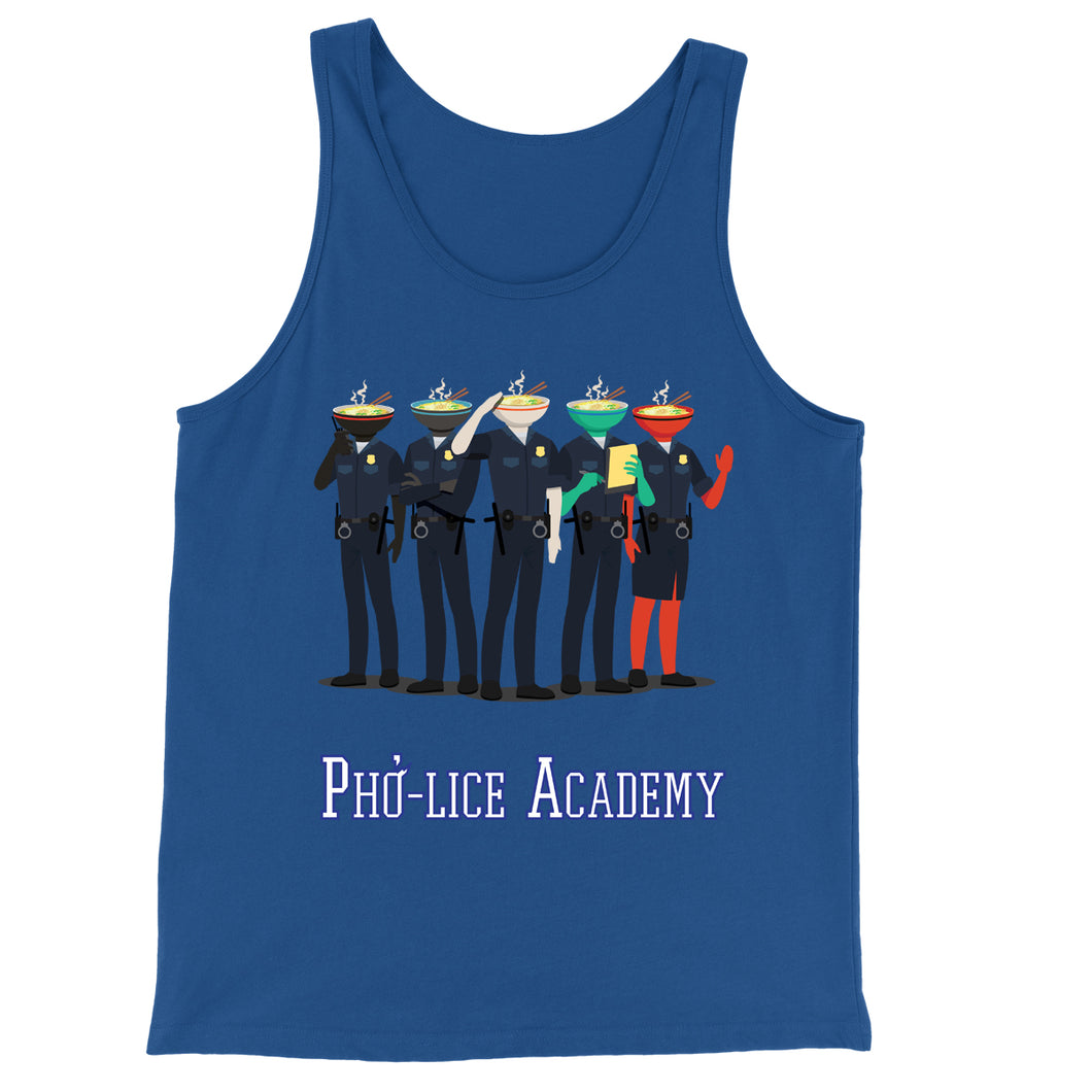 Movie The Food - Pho-lice Academy Tank Top - True Royal