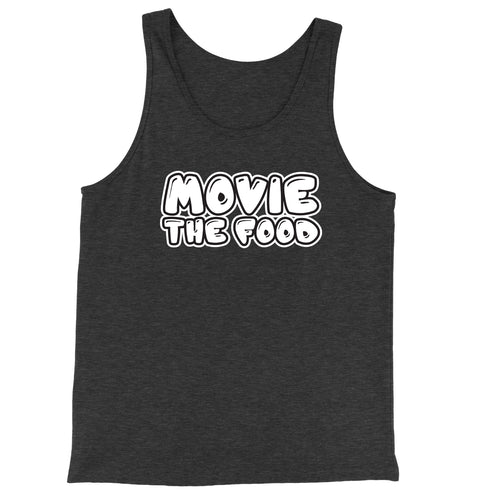Movie The Food - Text Logo Tank Top - Charcoal-black Triblend