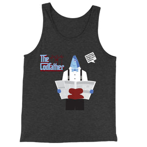 Movie The Food - The Codfather Tank Top - Charcoal-black Triblend