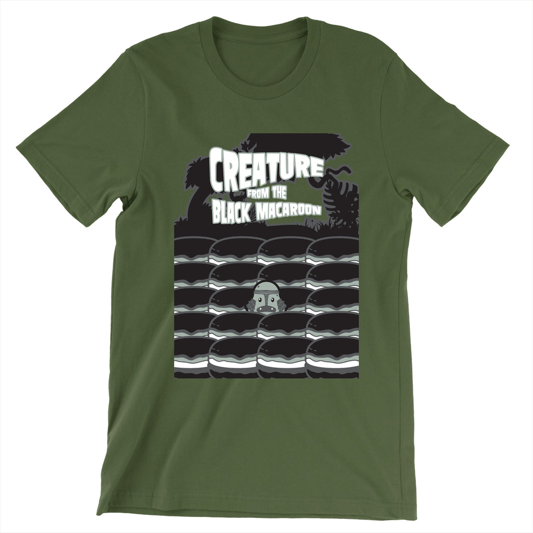 Movie The Food - Creature From The Black Macaroon T-Shirt - Olive