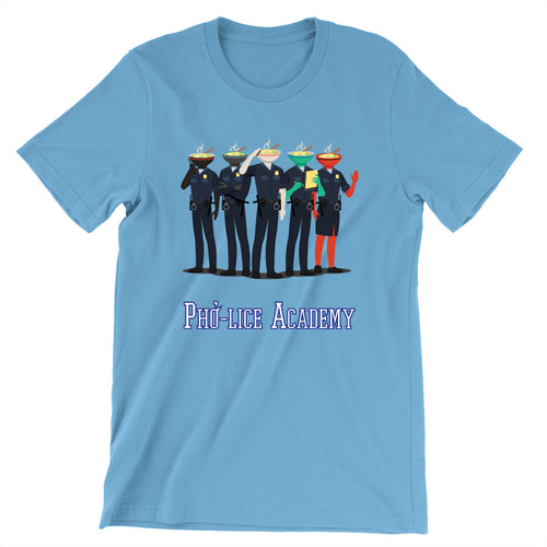 Movie The Food - Pho-lice Academy T-Shirt - Ocean Blue