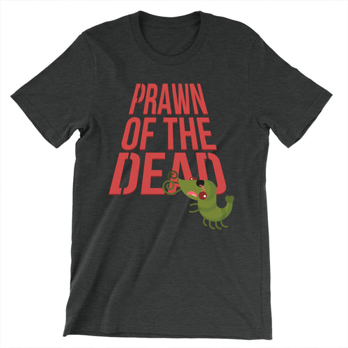 Movie The Food - Prawn Of The Dead T-Shirt- Black Heather