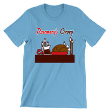 Load image into Gallery viewer, Movie The Food - Rosemary's Gravy T-Shirt - Ocean Blue