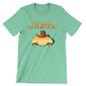 Movie The Food - The Gouda, The Bad, The Ugly T-Shirt - Heather Mint