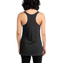 Load image into Gallery viewer, Movie The Food - Round Logo Women's Racerback Tank Top - Vintage Black - Model Back