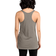 Load image into Gallery viewer, Movie The Food - The Karate Quiche Women's Racerback Tank Top - Venetian Grey - Model Back