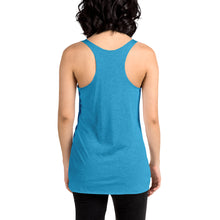 Load image into Gallery viewer, Movie The Food - The People Beneath The Eclairs Women's Racerback Tank Top - Vintage Turuoise - Model Back