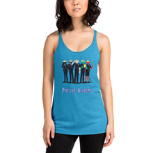 Load image into Gallery viewer, Movie The Food - Pho-lice Academy Women's Racerback Tank Top- Vintage Turquoise - Model Front
