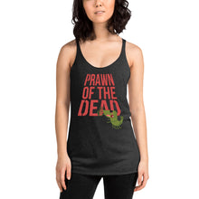 Load image into Gallery viewer, Movie The Food - Prawn Of The Dead Women's Racerback Tank Top - Vintage Black - Model Front
