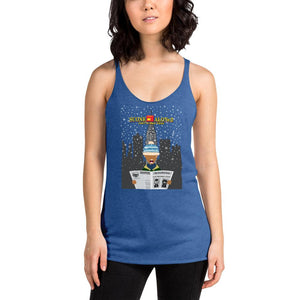 Movie The Food -Scone Alone 2 Women's Racerback Tank Top - Vintage Royal - Model Front