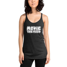 Load image into Gallery viewer, Movie The Food - Text Logo Women's Racerback Tank Top - Vintage Black - Model Front