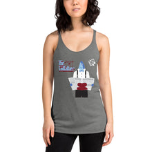 Load image into Gallery viewer, Movie The Food - The Codfather Women's Racerback Tank Top - Premium Heather - Model Front