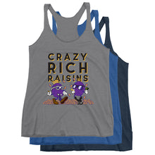 Load image into Gallery viewer, Movie The Food - Crazy Rich Raisins Women's Racerback Tank Top