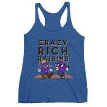 Load image into Gallery viewer, Movie The Food - Crazy Rich Raisins Women's Racerback Tank Top - Vintage Royal