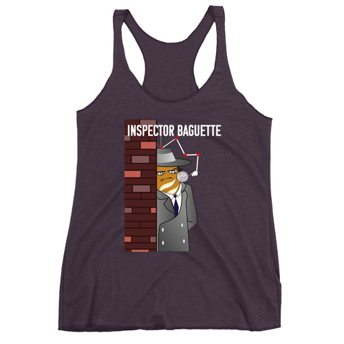 Movie The Food - Inspector Baguette Women's Racerback Tank Top - Vintage Purple