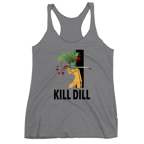 Movie The Food - Kill Dill Women's Racerback Tank Top - Premium Heather