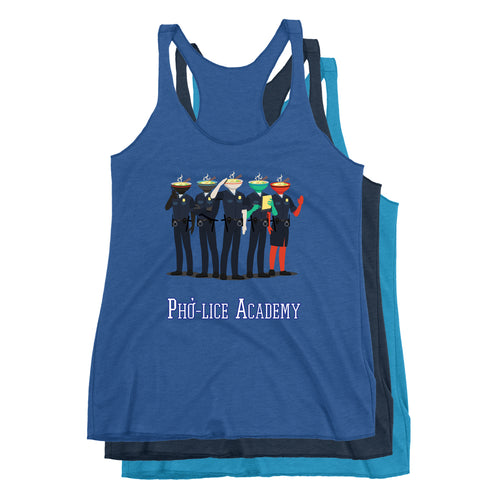 Movie The Food - Pho-lice Academy Women's Racerback Tank Top