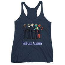 Load image into Gallery viewer, Movie The Food - Pho-lice Academy Women's Racerback Tank Top - Navy