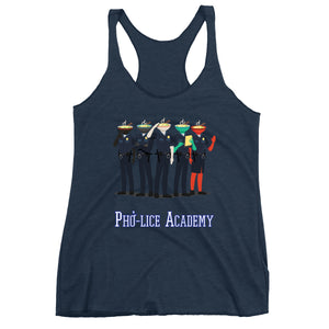 Movie The Food - Pho-lice Academy Women's Racerback Tank Top - Navy