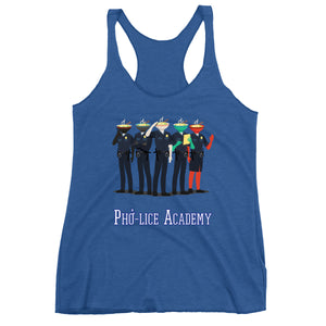 Movie The Food - Pho-lice Academy Women's Racerback Tank Top - Vintage Royal