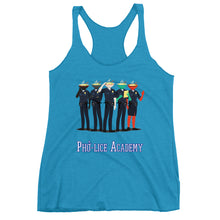 Load image into Gallery viewer, Movie The Food - Pho-lice Academy Women's Racerback Tank Top- Vintage Turquoise