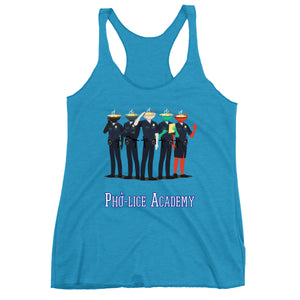 Movie The Food - Pho-lice Academy Women's Racerback Tank Top- Vintage Turquoise