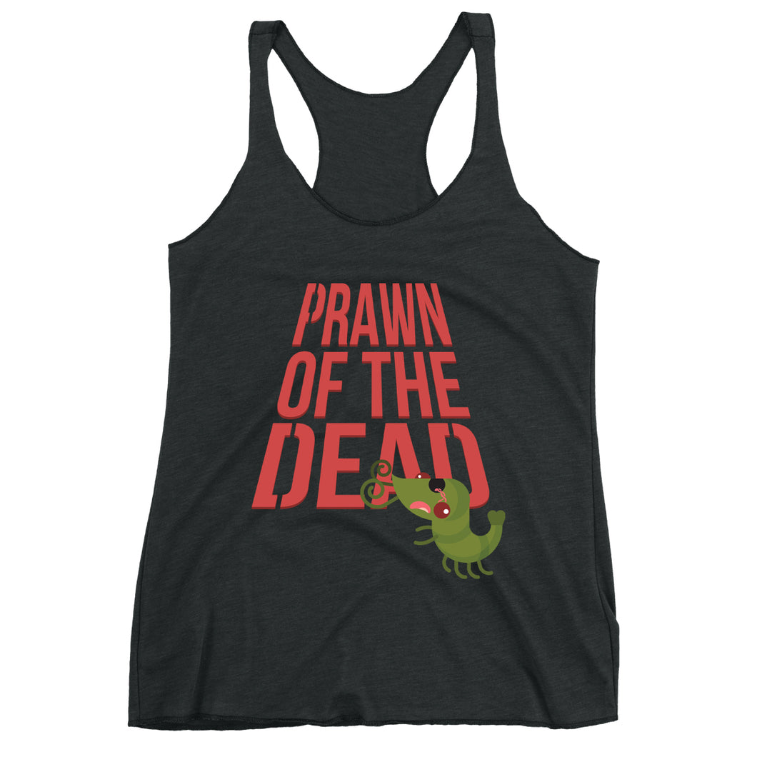 Movie The Food - Prawn Of The Dead Women's Racerback Tank Top - Vintage Black