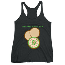 Load image into Gallery viewer, Movie The Food - The Baba Ghanoush Women's Racerback Tank Top - Vintage Black