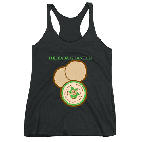 Movie The Food - The Baba Ghanoush Women's Racerback Tank Top - Vintage Black