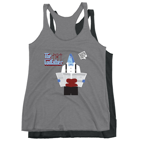 Movie The Food - The Codfather Women's Racerback Tank Top