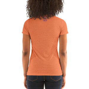 Movie The Food - I-Scream Women's T-Shirt - Orange Triblend - Model Back