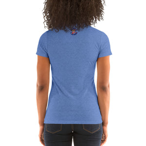 Movie The Food - Pholice Academy Women's T-Shirt - Blue Triblend - Model Back