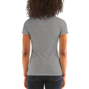Movie The Food - The Codfather Women's T-Shirt - Grey Triblend - Model Back