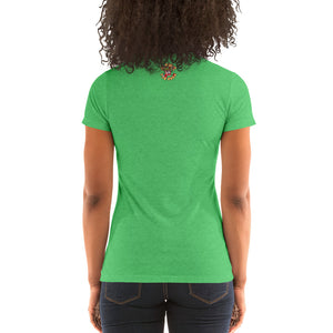 Movie The Food - The Gouda, The Bad, The Ugly Women's T-Shirt - Green Triblend - Model Back