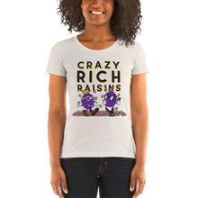 Load image into Gallery viewer, Movie The Food - Crazy Rich Raisins Women's T-Shirt - Oatmeal Triblend - Model Front