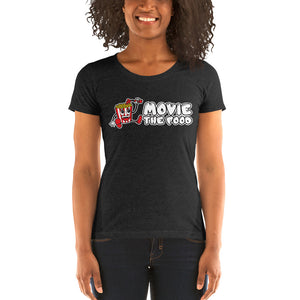 Movie The Food - Logo Women's T-Shirt - Charcoal-black Triblend - Model Front