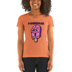 Movie The Food - I-Scream Women's T-Shirt - Orange Triblend - Model Front