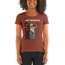 Load image into Gallery viewer, Movie The Food - Inspector Baguette Women's T-Shirt - Clay Triblend - Model Front