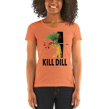 Load image into Gallery viewer, Movie The Food - Kill Dill Women's T-Shirt - Orange Triblend - Model Front