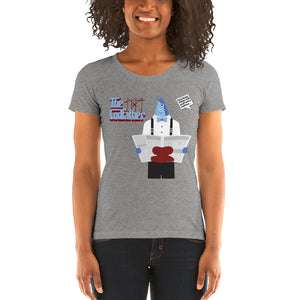 Movie The Food - The Codfather Women's T-Shirt - Grey Triblend - Model Front